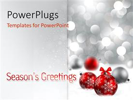 PowerPlugs: PowerPoint template with a number of balls with lights in the background