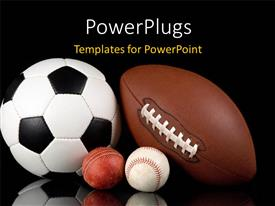 PowerPlugs: PowerPoint template with a number of balls in a picture