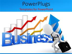PowerPlugs: PowerPoint template with a number of bars in the background with white background