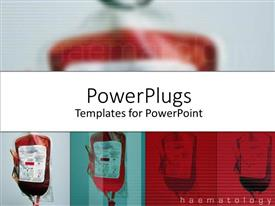 PowerPlugs: PowerPoint template with a number of blood bags and place for text