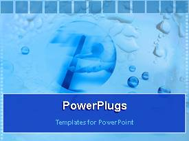 PowerPoint template displaying a number of blue bubbles with boxes in the background