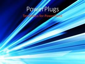 PowerPlugs: PowerPoint template with a number of blue lines with place for text