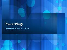 PowerPlugs: PowerPoint template with a number of bluish circles in the background with bullet point