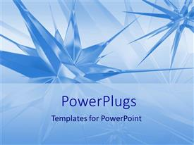 PowerPlugs: PowerPoint template with a number of bluish stars with bluish background