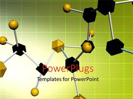 PowerPlugs: PowerPoint template with a number of bonds with yellowish background