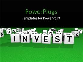 PowerPlugs: PowerPoint template with a number of boxes with alphabets written on them