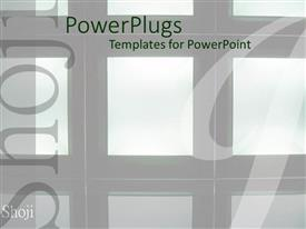 PowerPlugs: PowerPoint template with a number of boxes in the background