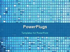 PowerPoint template displaying a number of boxes in the background with bluish shade
