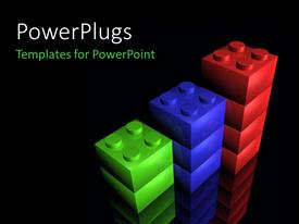PowerPlugs: PowerPoint template with a number of boxes with blackish background