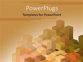 PowerPoint template displaying a number of boxes with brown background and place for text