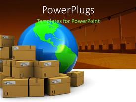 PowerPlugs: PowerPoint template with a number of boxes with the globe
