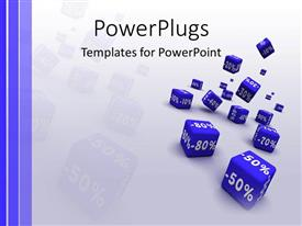 PowerPlugs: PowerPoint template with a number of boxes with percentage on them and greyish background