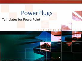 PowerPlugs: PowerPoint template with a number of boxes with white background