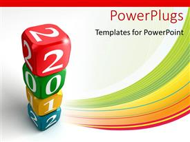 PowerPlugs: PowerPoint template with number of boxes with white background