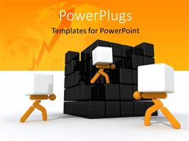 PowerPlugs: PowerPoint template with a number of boxes with yellowish background