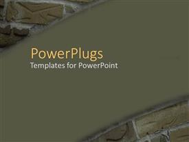 PowerPlugs: PowerPoint template with a number of bricks with brownish background