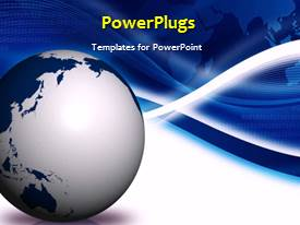 PowerPlugs: PowerPoint template with a number of bubbles with blackish background