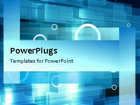 PowerPlugs: PowerPoint template with a number of bubbles with blue background and place for text
