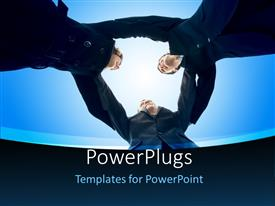 PowerPoint template displaying a number of bullet points with blackish background