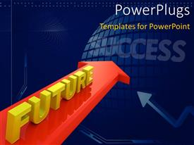 PowerPlugs: PowerPoint template with a number of bullet points with bluish background