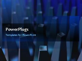 PowerPlugs: PowerPoint template with a number of bullet points and lines in the background