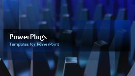 PowerPoint template displaying a number of bullet points and lines in the background - widescreen format