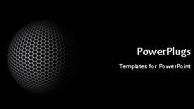 PowerPoint template displaying a number of bullet points with moving globe in background - widescreen format