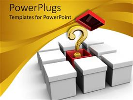 PowerPlugs: PowerPoint template with a number of bullet points with a question mark in a corner