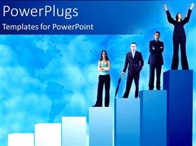 PowerPlugs: PowerPoint template with a number of bullet points with white background
