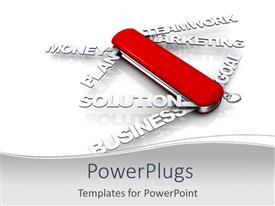 PowerPlugs: PowerPoint template with a number of business related concepts in words