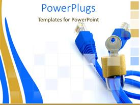 PowerPlugs: PowerPoint template with a number of cables together with white background