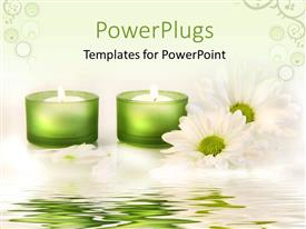 PowerPlugs: PowerPoint template with a number of candle lights in the background