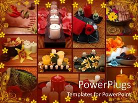 PowerPlugs: PowerPoint template with a number of candles in the background with place for text