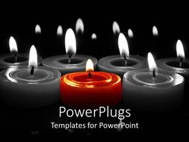 PowerPlugs: PowerPoint template with a number of candles burning together