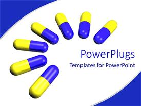 PowerPoint template displaying a number of capsules together with white background