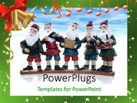 PowerPlugs: PowerPoint template with a number of cartoons with a bluish background