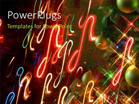 PowerPlugs: PowerPoint template with a number of celebration balls with a lot of lights