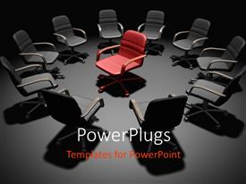 PowerPlugs: PowerPoint template with a number of chairs in the office