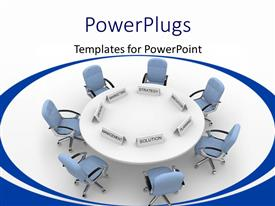 PowerPlugs: PowerPoint template with a number of chairs in an office