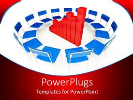 PowerPlugs: PowerPoint template with a number of chairs placed in a circle