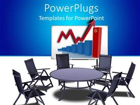 PowerPlugs: PowerPoint template with a number of chairs and a round table