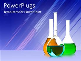 PowerPlugs: PowerPoint template with a number of chemicals with bluish background