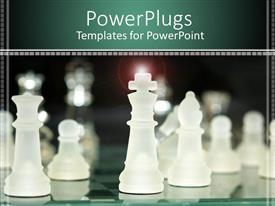 PowerPlugs: PowerPoint template with a number of chess pieces with blurred background