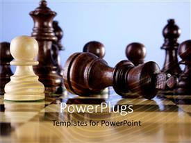PowerPlugs: PowerPoint template with a number of chess pieces with clear background
