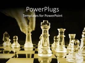 PowerPlugs: PowerPoint template with a number of chess pieces made of glass