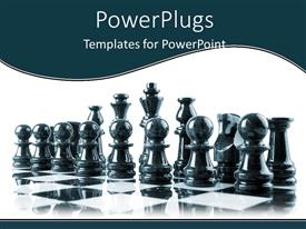 PowerPlugs: PowerPoint template with a number of chess pieces with white background