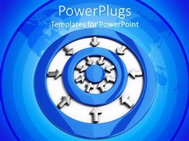 PowerPlugs: PowerPoint template with a number of circles and arrows in the middle