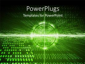 PowerPlugs: PowerPoint template with a number of circles with binary numbers in the background