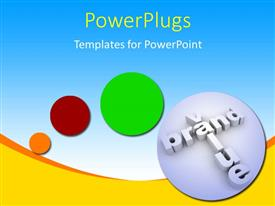 PowerPoint template displaying a number of circles with bluish background and place for text