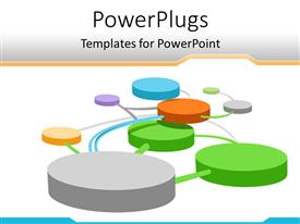 PowerPlugs: PowerPoint template with a number of circles connected to each other